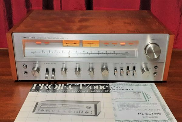 Project One Mark IIB Stereo Receiver Silver 1979