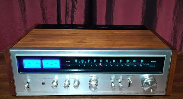 Pioneer TX-9100 Stereo Tuner Professional FM/MW Stereo Tuner 1974 Silver Walnut