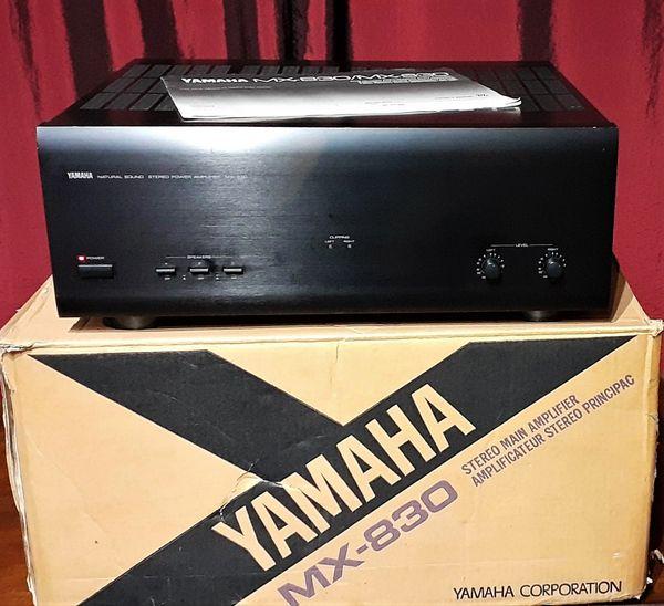 Yamaha MX-830 Amplifier Natural Sound Power Amplifier 1990 Black