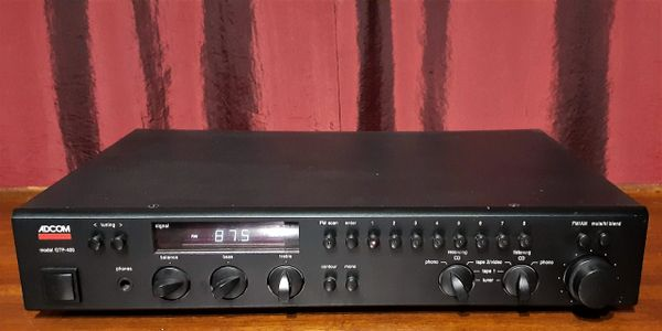 Adcom GTP-400 Stereo Tuner Preamplifier 1988 Black