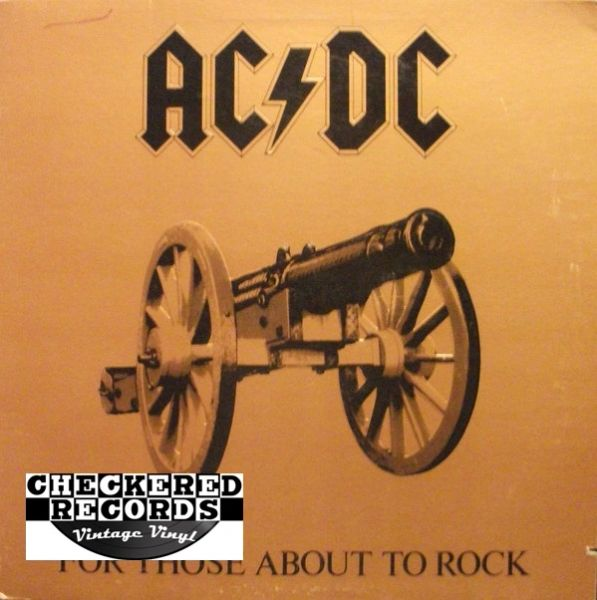AC/DC For Those About To Rock We Salute You First Year Pressing 1981 Atlantic SD 11111 Vintage Vinyl Record Album