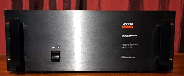Adcom GFA-555 Stereo Power Amplifier 1986 Black