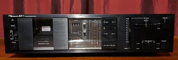 Nakamichi BX-1 Two Head Stereo Cassette Tape Deck 1982 Black