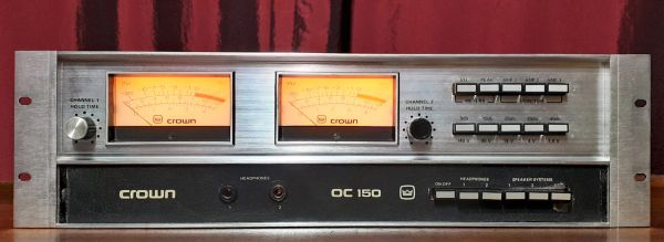 Crown IC-150 Integrated Circuit Stereo Console 1973 Silver