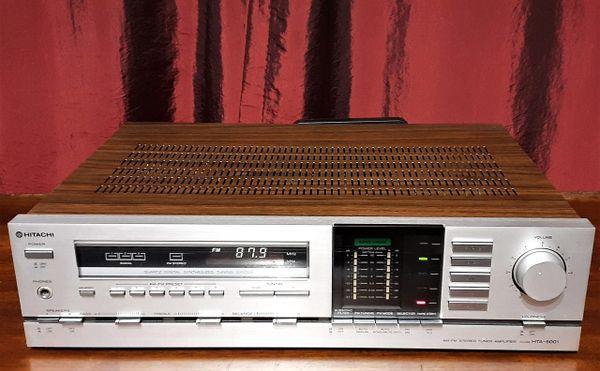 Hitachi HTA-5001 Stereo Receiver HTA 5001 Stereo Tuner Amplifier 1981 Silver