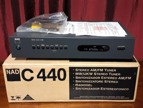 NAD C440 AM/FM Stereo Tuner 1998 Battleship Grey
