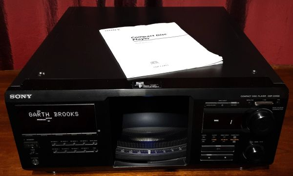 Sony CDP-CX455 400 Disc Compact Disc Changer CD Player 2004 Black