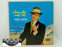 Vintage Frank Sinatra Come Fly With Me First Year Pressing Capitol W920 1958 VG+ Vintage Vinyl LP Record Album