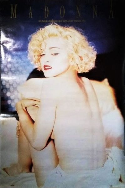 Authentic Original 1990 Madonna Blond Ambition World Tour 1990 #8079 Winterland Productions OSP Publishing Boy Toy Inc 35 X 23 Concert Poster