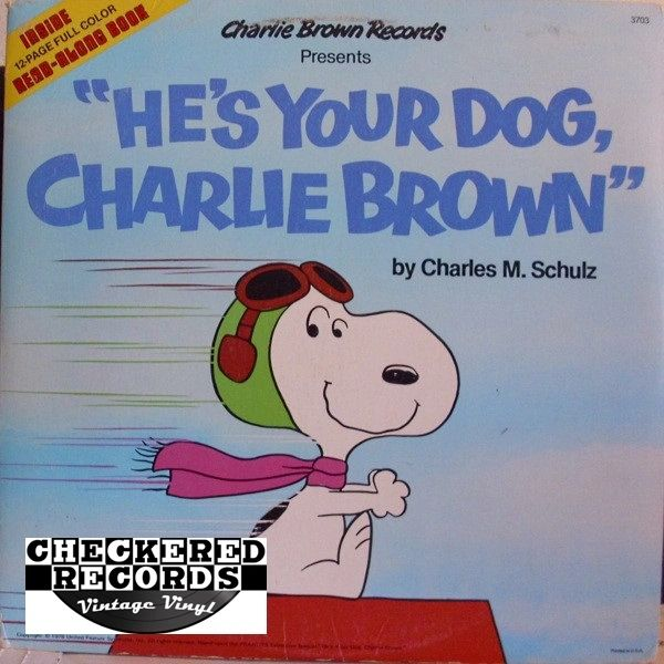 Vintage Charles M. Schulz He's Your Dog Charlie Brown 1978 Pressing 1978 Charlie Brown Records 3703 Vintage Vinyl LP Record Album
