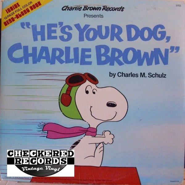 Vintage Charles M Schulz He S Your Dog Charlie Brown 1978 Pressing 1978 Charlie Brown Records 3703 Vintage Vinyl Lp Record Album