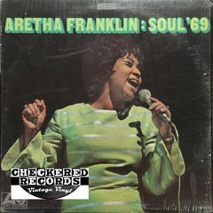 Vintage Aretha Franklin Soul '69 1969 Pressing Atlantic SD 8212 Vintage Vinyl LP Record Album