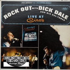 Vintage Dick Dale & His Del-Tones Rock Out With Dick Dale & His Del-Tones Live At Ciro's First Year Pressing 1965 US Capitol Records ‎ST 2293 Vintage Vinyl LP Record Album