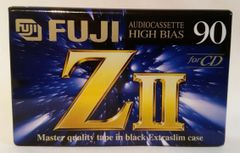 New Fuji ZII High Bias Type II 90 Minute Audio Cassette Tape Blank Audio Cassette Tape