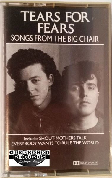 Vintage Tears For Fears Songs From The Big Chair 1985 US Mercury ‎824300-4M-1 Cassette Tape