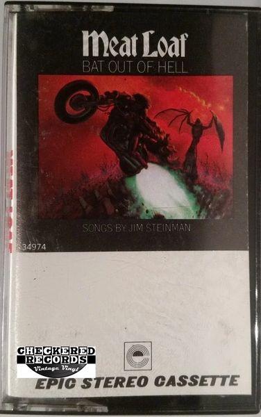 Vintage Meat Loaf Bat Out Of Hell 1977 US Epic PET 34974 Cassette Tape