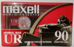 New Maxell UR 90 Normal Bias Type I 90 Minute Audio Cassette Tape Blank Audio Cassette Tape