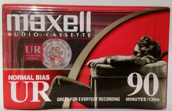 New Maxell UR 90 Normal Bias Type I 90 Minute Audio Cassette Tape Blank Audio Cassette Tape