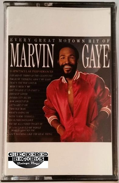 Vintage Marvin Gaye Every Great Motown Hit Of Marvin Gaye 1983 US Motown 6058 MC Cassette Tape