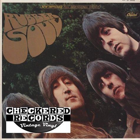 Vintage The Beatles Rubber Soul First Year Pressing 1965 US Capitol Records ST 2442 Vintage Vinyl LP Record Album