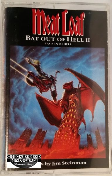 Vintage Meat Loaf ‎Bat Out Of Hell II: Back Into Hell 1993 US MCA Records MCAC-10699 Cassette Tape