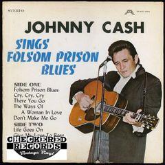 Vintage Johnny Cash Johnny Cash Sings Folsom Prison Blues 1970 US Share Records SHARE #5001 Vintage Vinyl LP Record Album