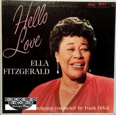 Vintage Ella Fitzgerald ‎Hello Love First Year Pressing 1959 US Verve Records MG V-4034 Vintage Vinyl LP Record Album