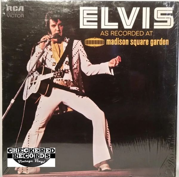 Elvis Presley Elvis As Recorded At Madison Square Garden First Year Pressing 1972 US RCA Victor LSP-4776 Vintage Vinyl Record Album