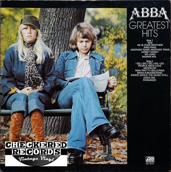 Vintage ABBA Greatest Hits First Year Pressing 1976 US Atlantic SD 19114 Vintage Vinyl LP Record Album