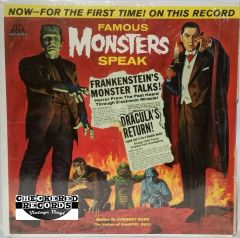 Vintage Cherney Berg Famous Monsters Speak 1963 US A.A. Records ‎AR-3 Vintage Vinyl LP Record Album