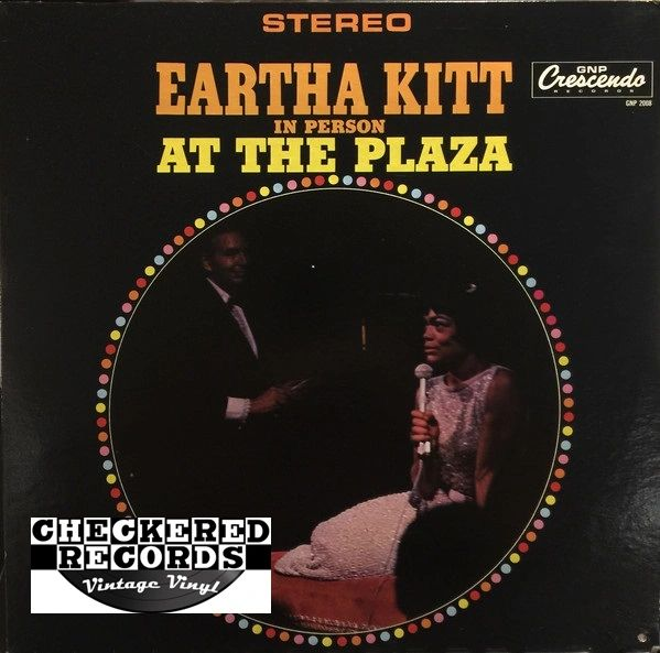 Vintage Eartha Kitt In Person At The Plaza First Year Pressing 1965 US GNP Crescendo ‎GNPS 2008 Vintage Vinyl LP Record Album