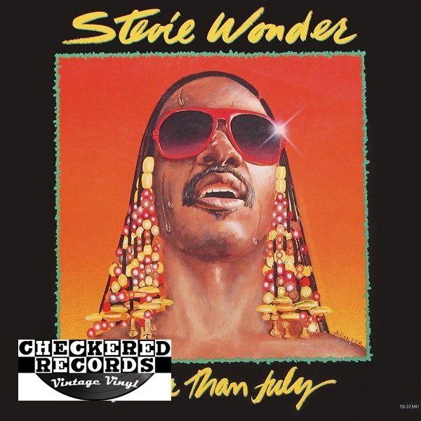 Vintage Stevie Wonder Hotter Than July First Year Pressing 1980 US Tamla T8-373M1 Vintage Vinyl LP Record Album