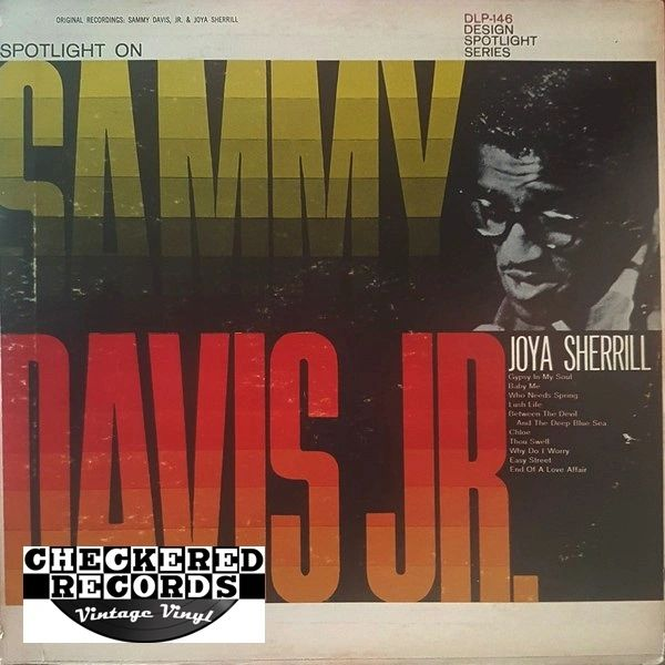Vintage Sammy Davis Jr., Joya Sherrill Spotlight On Sammy Davis Jr. And Joya Sherrill 1962 US Design Records DLP-146 Vintage Vinyl LP Record Album