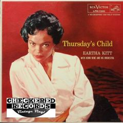 Vintage Eartha Kitt With Henri René And His Orchestra Thursday's Child First Year Pressing 1956 US RCA Victor LPM-1300 Vintage Vinyl LP Record Album