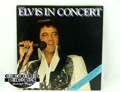 Vintage Elvis Presley Elvis In Concert With Insert RCA APL 2-2587 1977 NM Vintage Vinyl LP Record Album