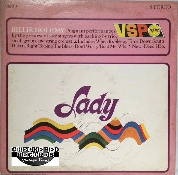 Vintage Billie Holiday Lady 1966 US Verve VSP MGM Records VSPS-5 Vintage Vinyl LP Record Album