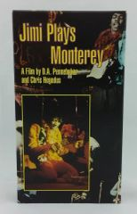 Vintage Jimi Hendrix ‎Jimi Plays Monterey 1987 US Rhino Home Video R3 2354 Vintage VHS Video Cassette Tape