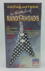 Vintage 1995 MVP Music Video Products Guitar Method In The Style Of Randy Rhoads With Curt Mitchell MVP 1995 US MVP-RR-1 VHS Video Cassette