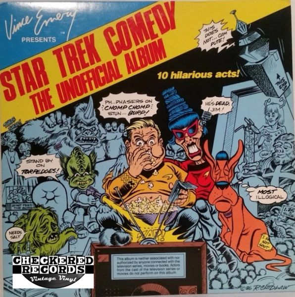 Vince Emery Star Trek Comedy The Unofficial Album First Year Pressing Hand Signed 719/1000 1987 US Vince Emery Productions VE-02-LE Vintage Vinyl Record Album