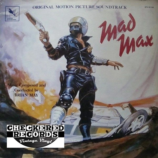 Vintage Mad Max Original Motion Picture Soundtrack Brian May First Year Pressing 1980 US Varèse Sarabande STV 81144 Vintage Vinyl LP Record Album