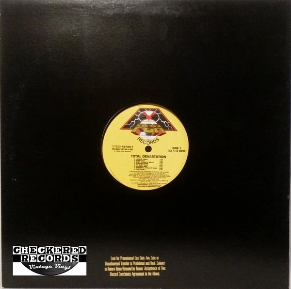 Vintage Total Devastation Total Devastation Gold Stamped Promo First Year Pressing 1993 US PGA Records 07822-18734-1 Vintage Vinyl LP Record Album