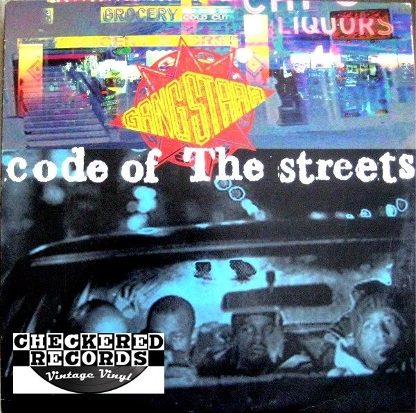 "Vintage Gang Starr Code Of The Streets 12"" First Year Pressing 1994 US Chrysalis Y-58147 Vintage Vinyl LP Record Album"