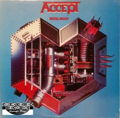 Vintage Accept Metal Heart First Year Pressing 1985 US Portrait ‎BFR 39974 Vintage Vinyl LP Record Album