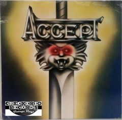 Vintage Accept ‎Accept Self Titled First Year Pressing 1980 US Passport Records PB 9849 Vintage Vinyl LP Record Album
