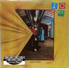 Vintage 10CC ‎Sheet Music First Year Pressing 1974 US UK Records ‎AUKS 53107 Vintage Vinyl LP Record Album