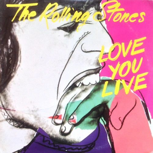 Vintage The Rolling Stones Love You Live First Year Pressing 1977 US Rolling Stones Records COC 2-9001 Vintage Vinyl Record Album