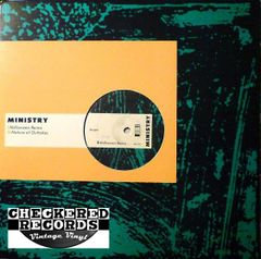"""Vintage Ministry Halloween (Remix) / Nature Of Outtakes 12"""" First Year Pressing 1985 US Wax Trax! Records WAX 020 Vintage Vinyl LP Record Album"""