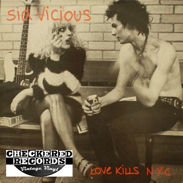 Vintage Sid Vicious Love Kills N.Y.C First Year Pressing 1985 Import Konexion / More Chaos Records KOMA 788020 Vintage Vinyl LP Record