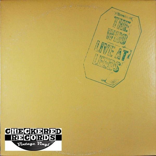 Vintage The Who Live At Leeds 1980 US MCA Records MCA-37000 Vinyl LP Record Album