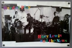 "Vintage 1991 Huey Lewis And The News Hard At Play Promotional Record Store Poster 36"" X 24"""
